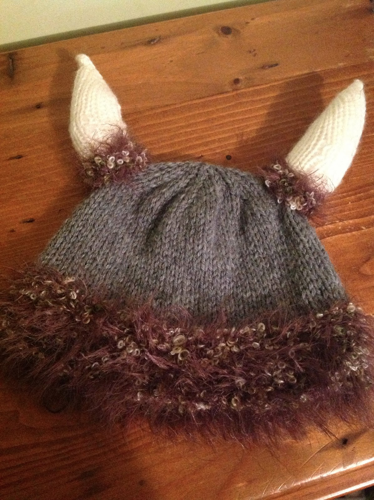 Viking Patterns For Knitting : Viking Helmet Hat   Knitting Pattern The Knit Guru