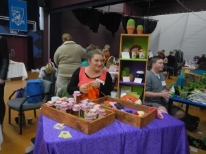 My stall at the Winter Solstice Market