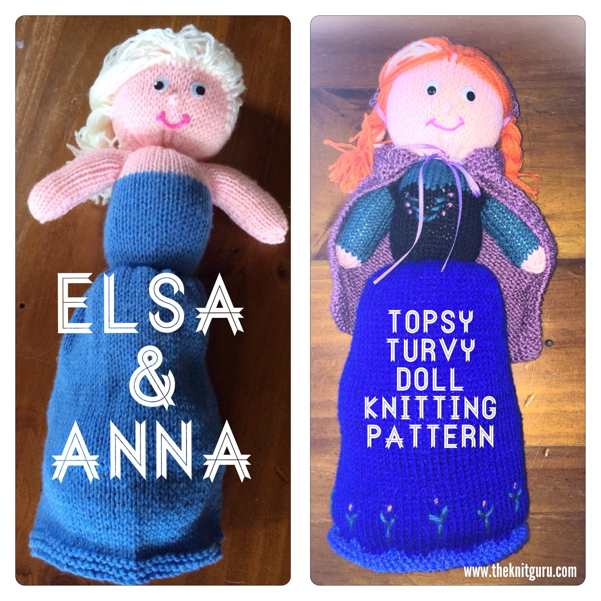 Anna and Elsa from Frozen – Knitting pattern | The Knit Guru