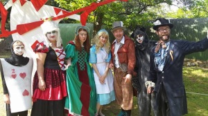 "Part of the cast of ""Alice in Wonderland"""