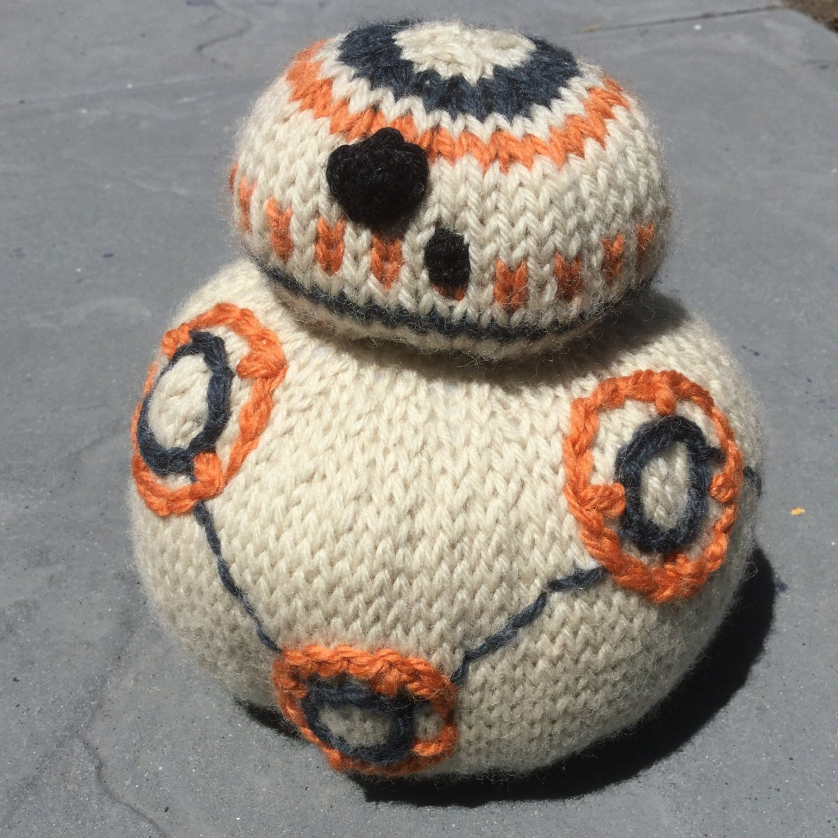 Free Crochet Star Wars Doll Patterns : BB-8 Knitting Pattern from ?Star Wars: The Force Awakens ...